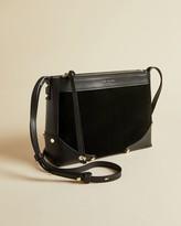 Ted Baker Folded Corner Detail Leather Cross Body Bag