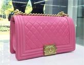 Chanel Pink Calfksin Medium Boy Bag