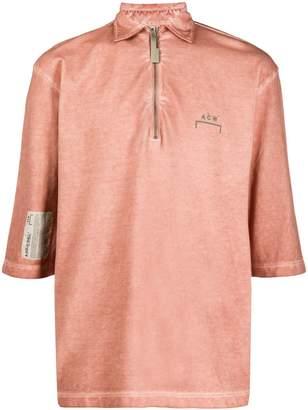 A-Cold-Wall* zipped neck polo shirt