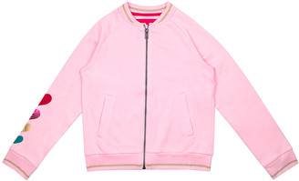 Aeropostale p.s. from Girls' Bombers LTPIN - Light Pink Heart-Sleeve Bomber Jacket - Girls