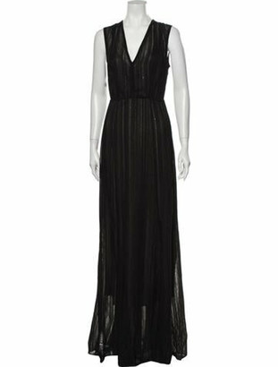 Narciso Rodriguez V-Neck Long Dress w/ Tags Black