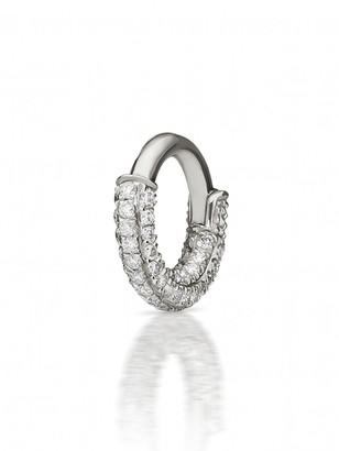Maria Tash 5mm Diamond Pave Five Row Single Hoop Earring - White Gold