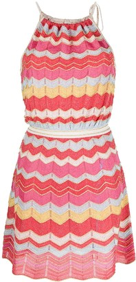 M Missoni Zigzag Print Knitted Dress