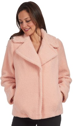 Fleet Street Women's Faux Fur Reversible Short Coat