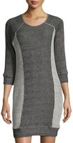 LAmade Jett Side-Panel Sweater Dress, Black