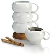 Nambe Bulbo Set Of 4 Stacked Coffee Mugs