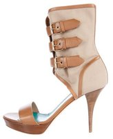 Moschino Cheap & Chic Moschino Cheap and Chic Buckle-Accented Platform Sandals