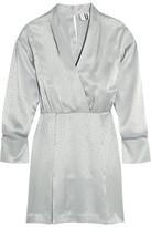 Topshop Vivien Wrap-effect Silk-jacquard Mini Dress