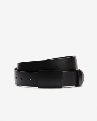 Express Black Matte Plaque Leather Belt