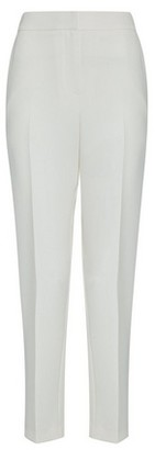 Dorothy Perkins Womens Ivory Heavy Crepe Ankle Grazer Trousers, Ivory