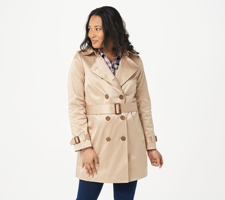 Joan Rivers Classics Collection Joan Rivers Classic Trench Coat