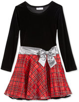 Bonnie Jean Velvet & Plaid Dress, Big Girls (7-16)