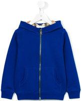 Burberry zipped hoodie - kids - Cotton - 12 yrs