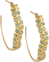 Jamie Wolf Pave Aquamarine Vine Hoop Earrings