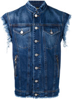 Vivienne Westwood distressed sleeveless denim jacket - men - Cotton - XS