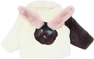 Rabbit Patchwork Faux Fur Coat