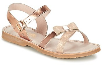 Citrouille et Compagnie JISCOTTE girls's Sandals in Gold