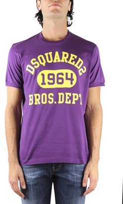 DSQUARED2 Purple Cotton Dsq2 T-shirt