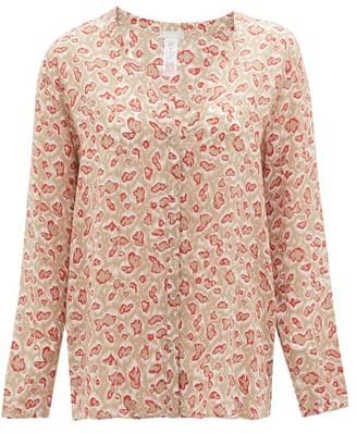 Hanro Leopard-print Jersey Pyjama Top - Beige Print
