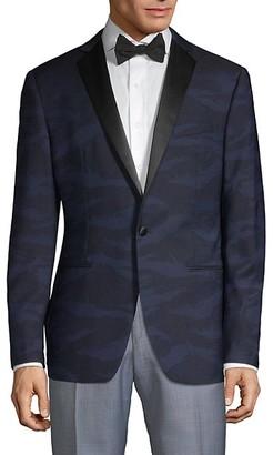 John Varvatos Modern-Fit Patterned Wool Dinner Jacket