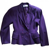 Karl Lagerfeld Paris Purple Cashmere Jacket for Women Vintage