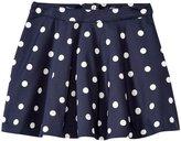 Kate Spade Circle Skirt (Toddler/Kid) - Rich Navy Polka Dot - 3