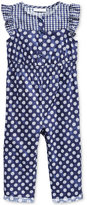 First Impressions Baby Girls' Dot-Print Jumpsuit, Only at Macy's