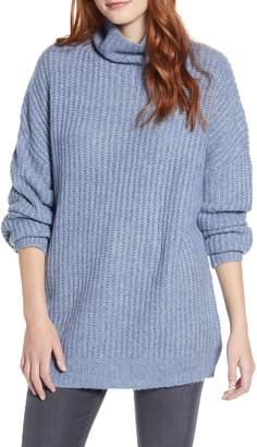 Press Oversize Turtleneck Long Sweater