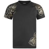 Diesel DieselGirls Black Rose Print Toni Top