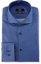 HUGO BOSS Slim-Fit Dot Dress Shirt, Denim