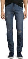 Joe's Jeans Distressed Slim-Fit Straight-Leg Jeans