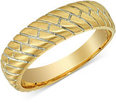 Esquire Men's Jewelry Herringbone Band in 14k Gold, Only at Macy's