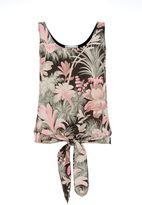 Warehouse Amazon Tie Woven Front Vest