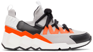 Pierre Hardy Orange and Grey Trek Comet Low-Top Sneakers