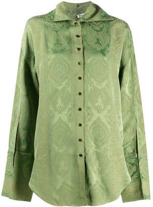 Acne Studios Paisley-Jacquard Shirt
