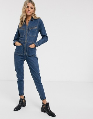 We The Free by Free People Lennox denim jumpsuit