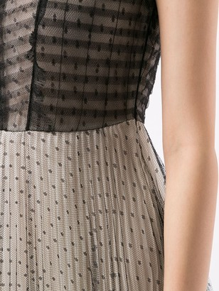 Giambattista Valli mesh-layer A-line dress
