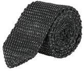 Burton Mens Charcoal Twist Knit Tie