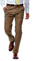 Haggar Men's Performance Cotton Slacks: Straight-Fit Comfort Flex Waist Pants