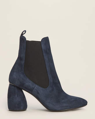 Carven Navy Suede Ankle Booties