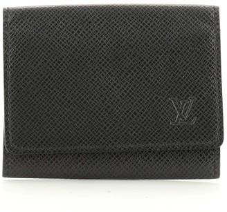 Louis Vuitton Business Card Case Taiga Leather