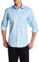 Bugatchi Plaid Cube Shaped Fit Woven Shirt