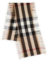 Burberry Cashmere & Merino Wool Check Scarf