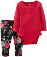 Carter's 2 Piece Pant Set (Baby) - Red - 24 Months