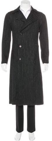 Chanel Striped Wool Coat