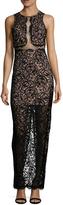 Nicole Miller Women's Chiffon Lace Sheath Dress