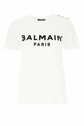 Balmain Flocked Logo T-Shirt
