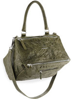 Givenchy Pandora Medium Old Pepe Shoulder Bag, Army Green