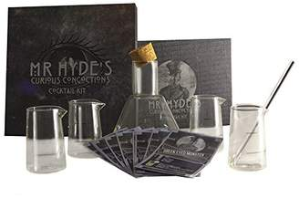 Hyde's eKitch Mr. Curious Concoctions Novelty Cocktail Kit, scientific cocktail kit | Glass cocktail shaker, glass stirring rod, cocktail recipe cards | Dr Jekyll and Mr. Hyde gift set