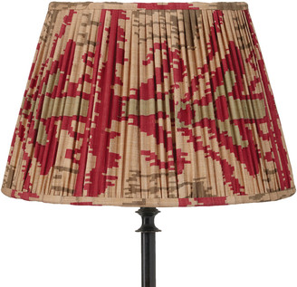 OKA 50cm Pleated Madura Silk Empire Lampshade - Red